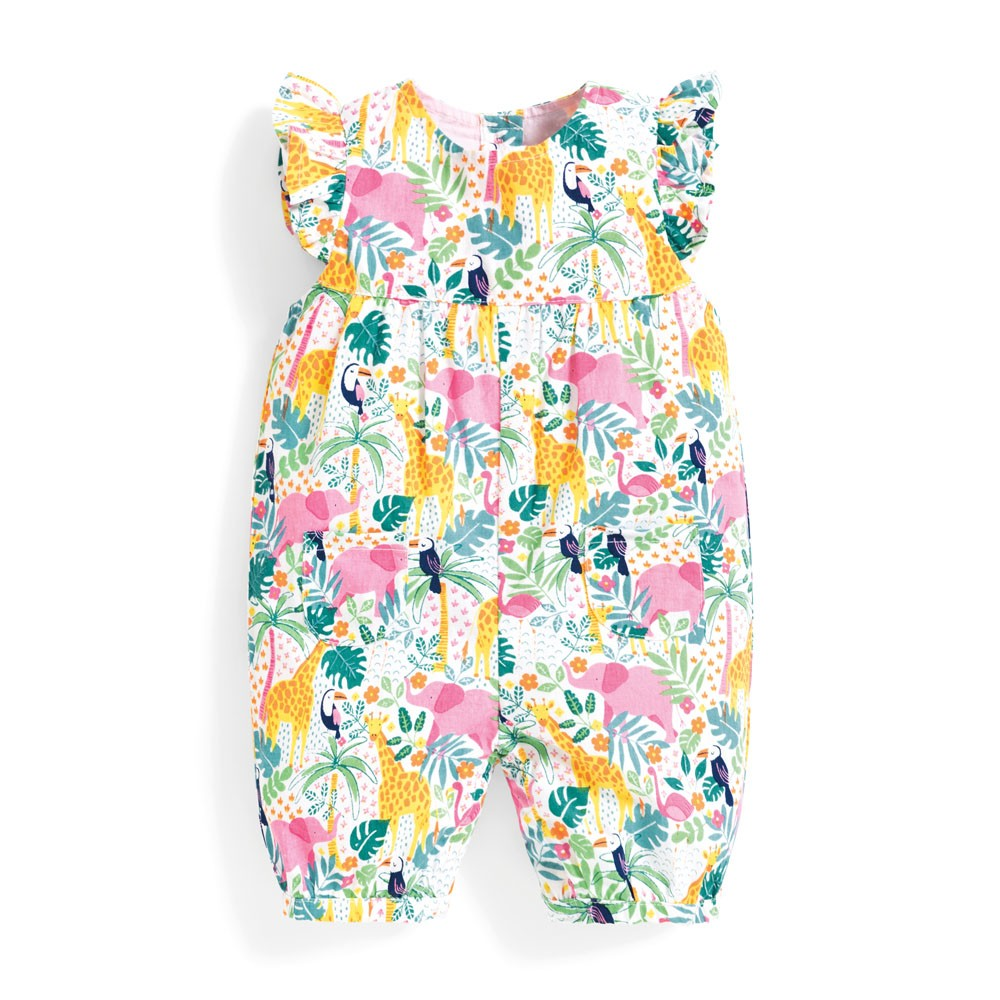 Pretty Jungle Baby Sunsuit