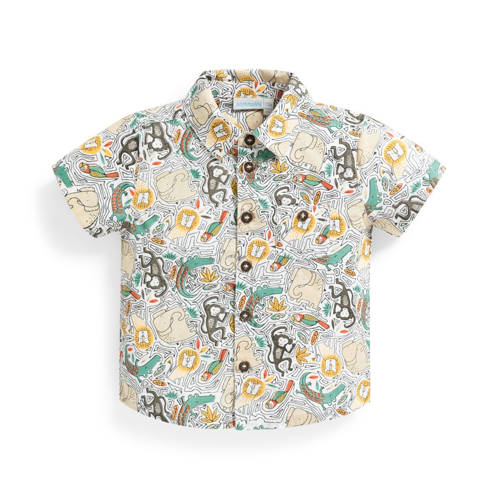 Boys' Jungle Print Shirt