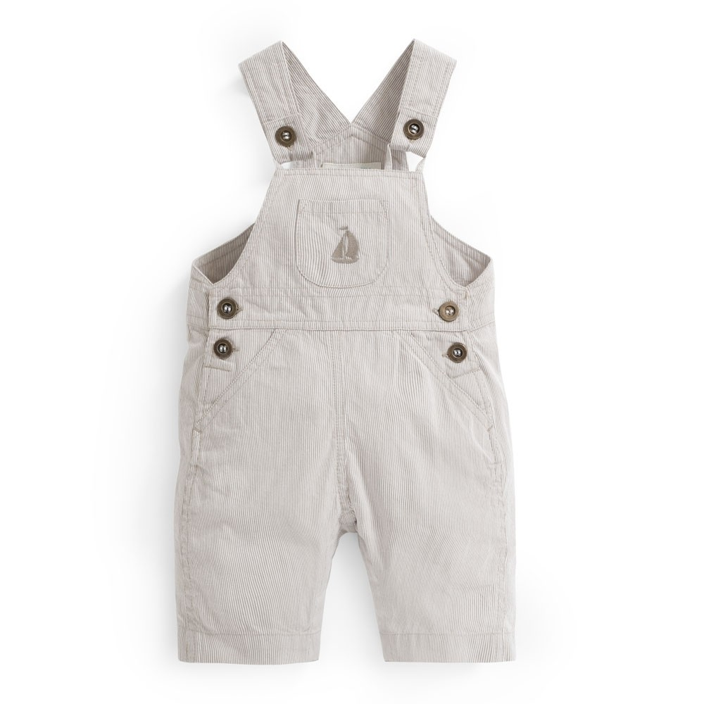 Ticking Stripe Baby Dungarees