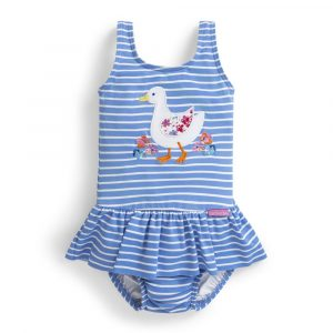 Girls' Duck Swimsuit with Diaper