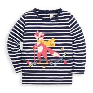 Girls' Pretty Scooting Fox Top