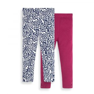 2-Pack Girls' Raspberry & Woodland Animals Leggings