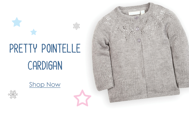 Girls' Pretty Pointelle Cardigan