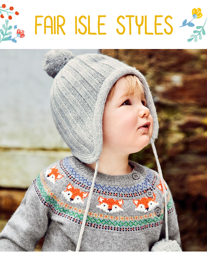 Kids' Fox Fair Isle Sweater