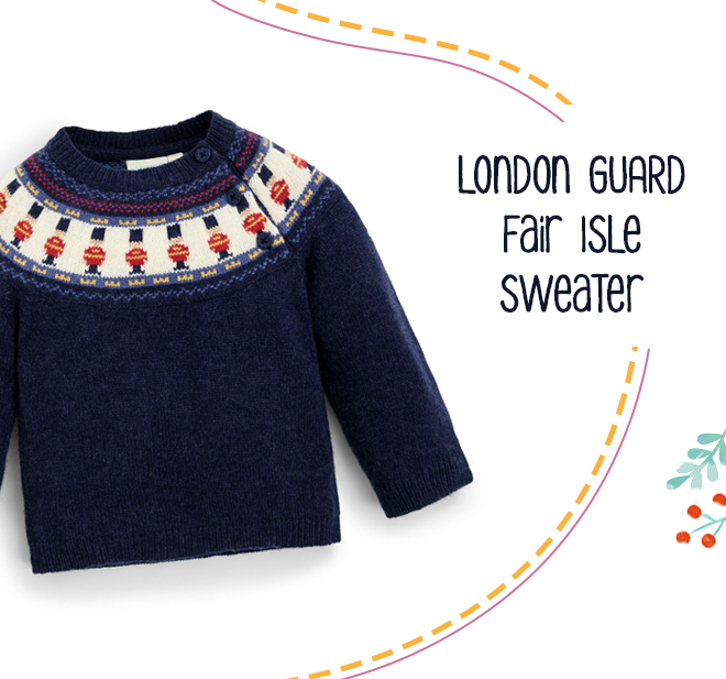 Kids' London Guard Fair Isle Sweater