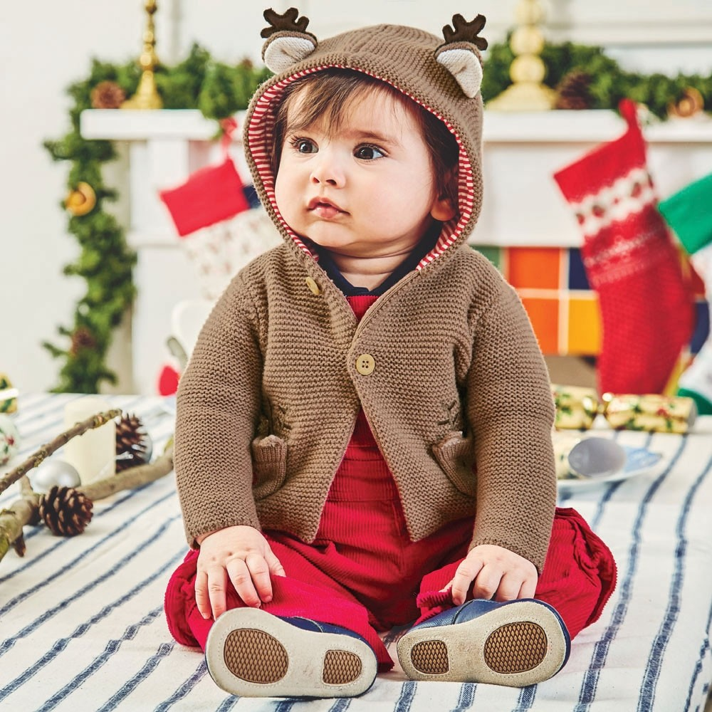 Fawn Cozy Reindeer Baby Cardigan | Shop Now
