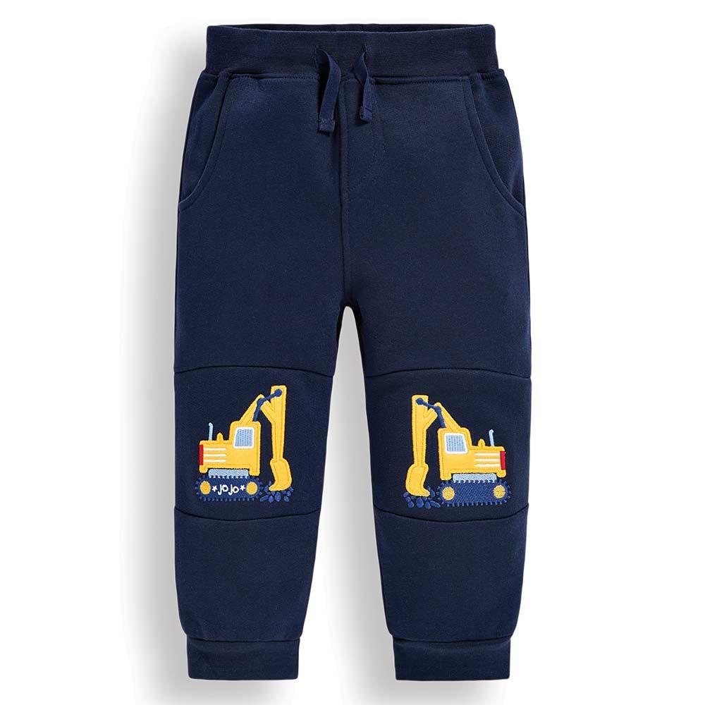 Boys' Navy Digger Appliqué Sweatpants