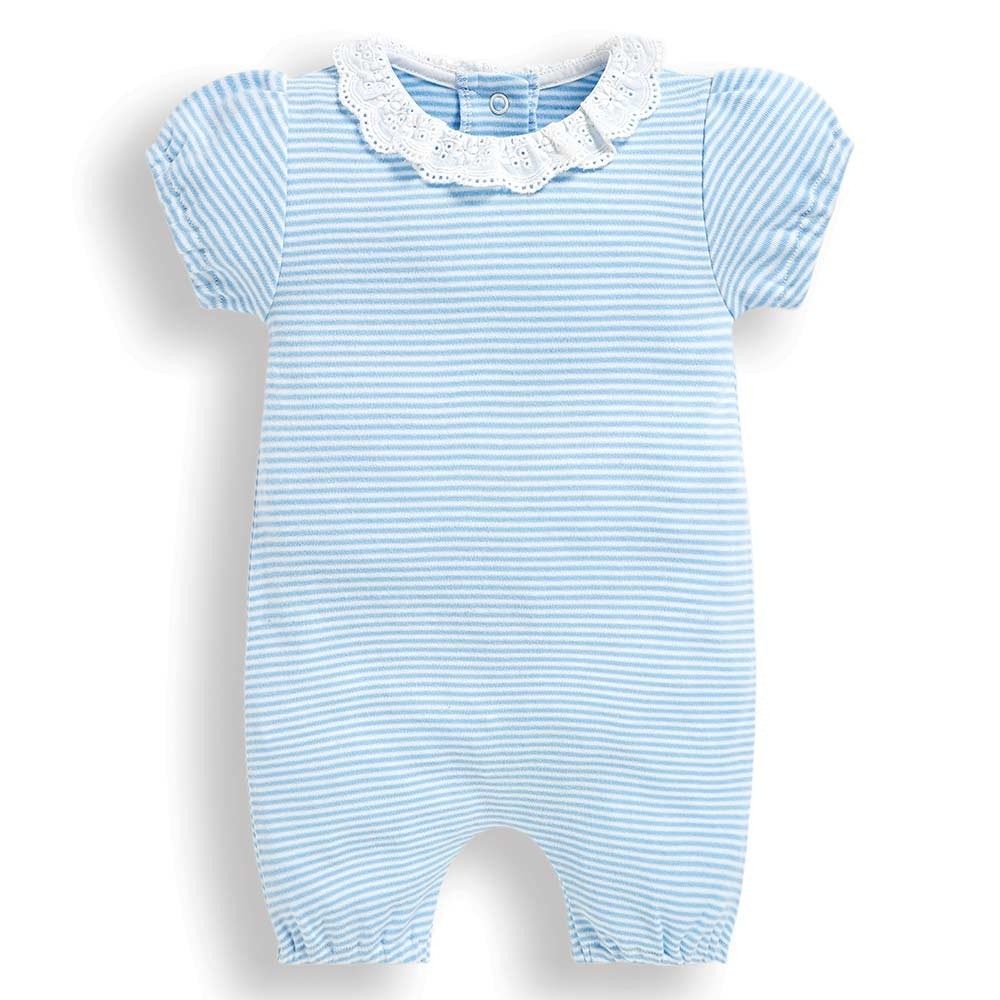 2-Pack Pretty Frill Collar Baby Rompers